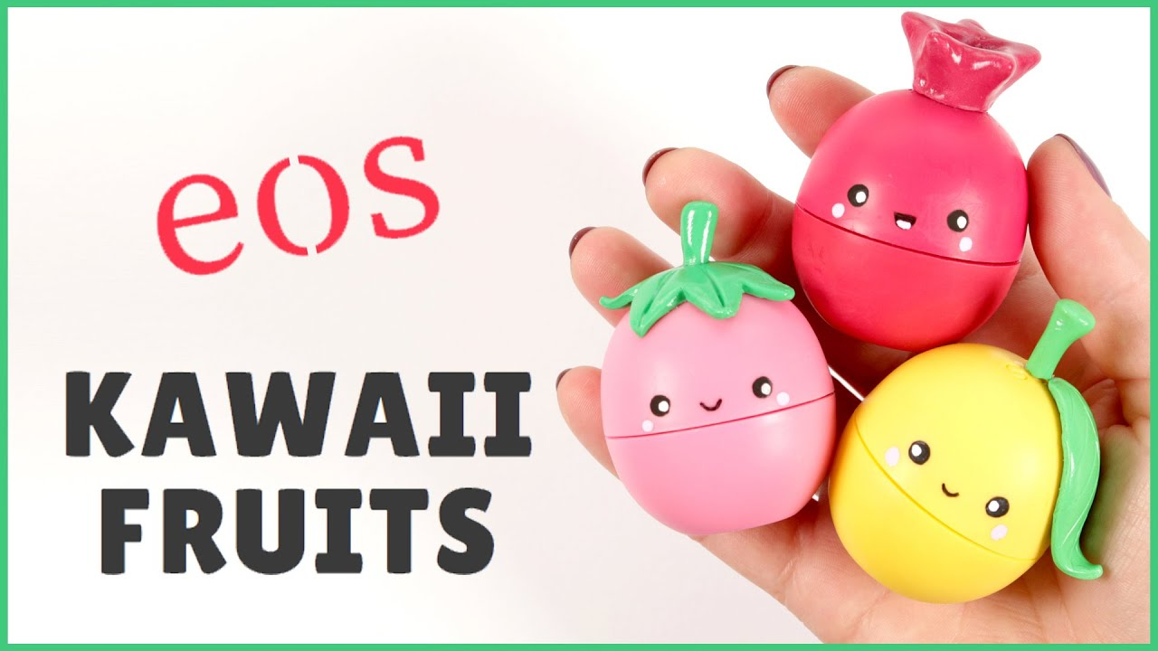 Diy Eos Lip Balm Kawaii Fruits Eos Eos Tutorial Youtube