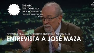 Entrevista a José Maza | PPE 2017 | Finalista categoría entrevista audiovisual