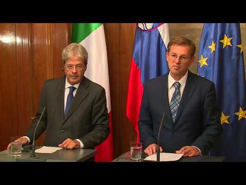 Conferenza stampa del Presidente Gentiloni con il Primo Ministro sloveno Miro Cerar (07/09/2017)