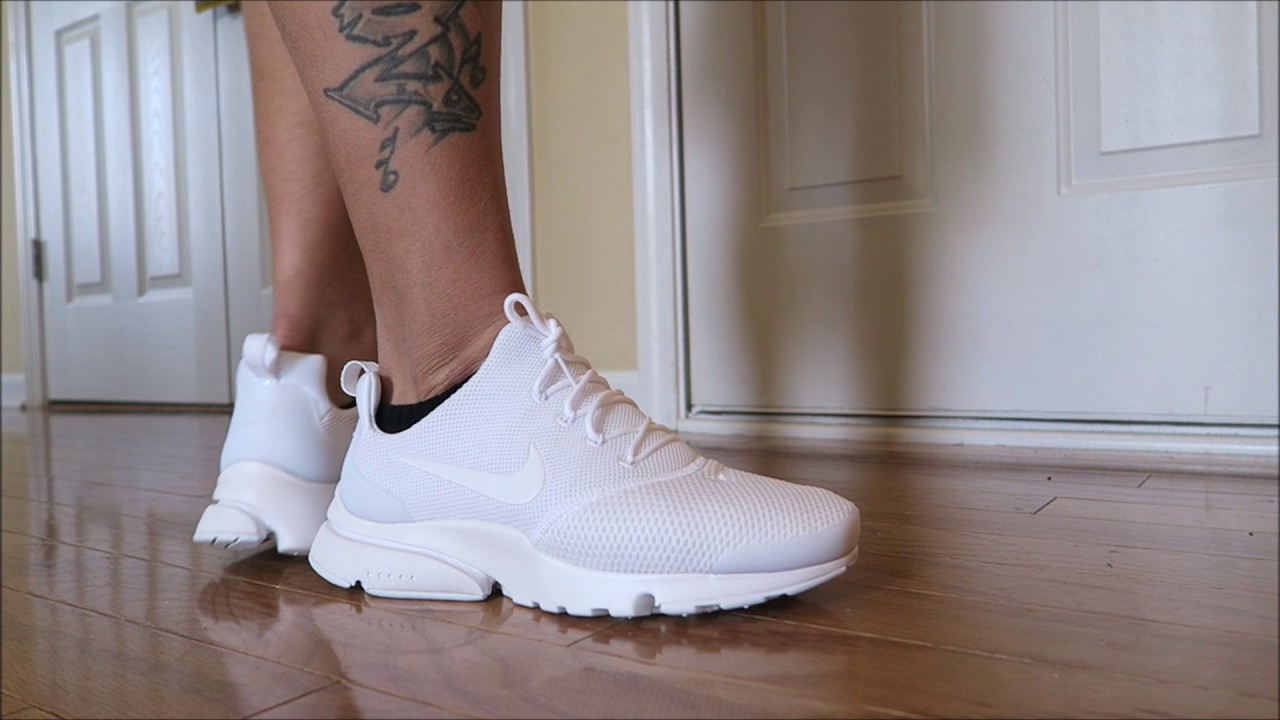 e69f4ed8e9d2 NIKE PRESTO FLY SNEAKER ON FEET REVIEW - YouTube
