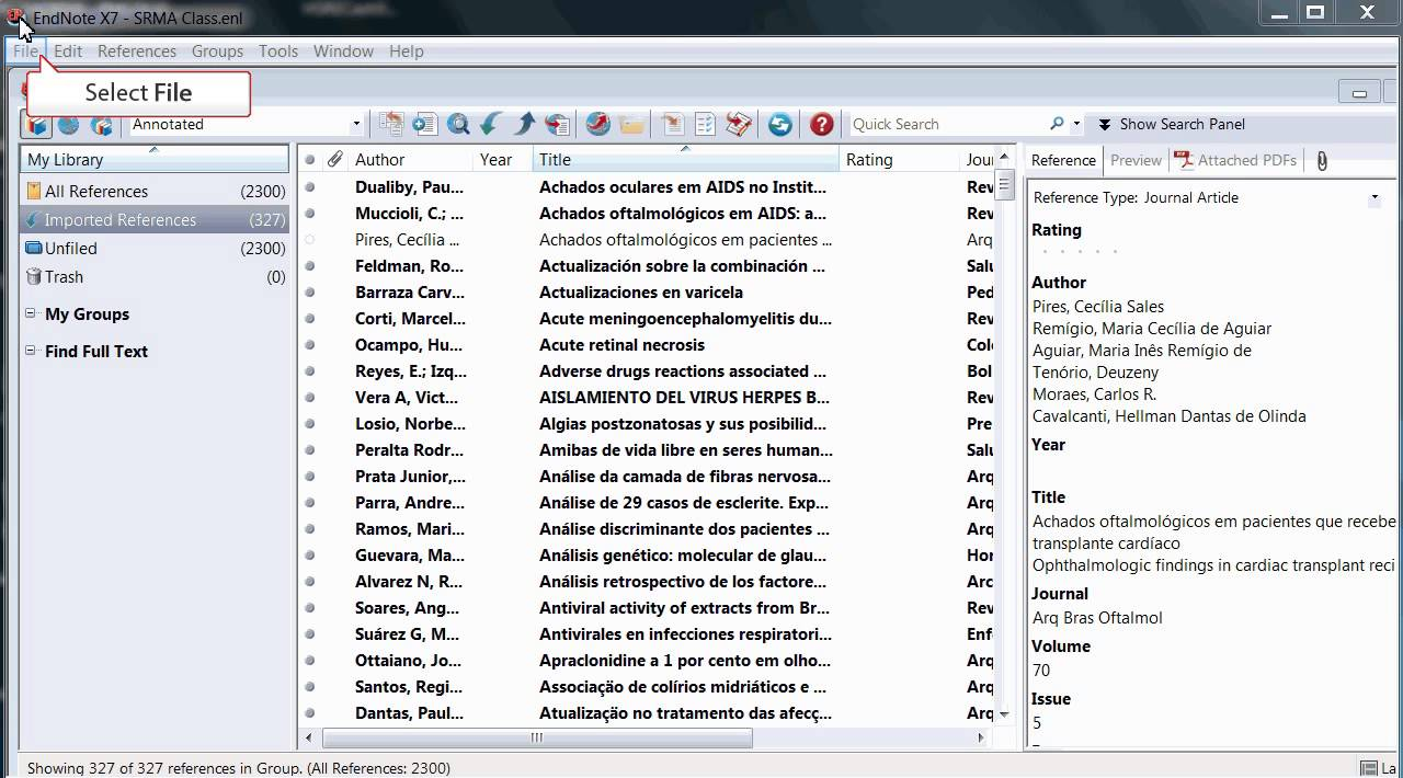 Sharing An Endnote Library
