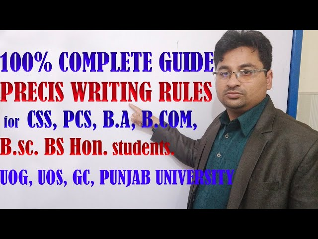 precis writing in urdu/hindi