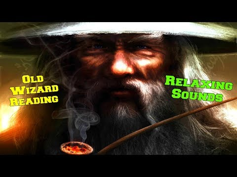 Old Wizard Reading A Book and smoking A Pipe Just Relaxing Ambience Sounds