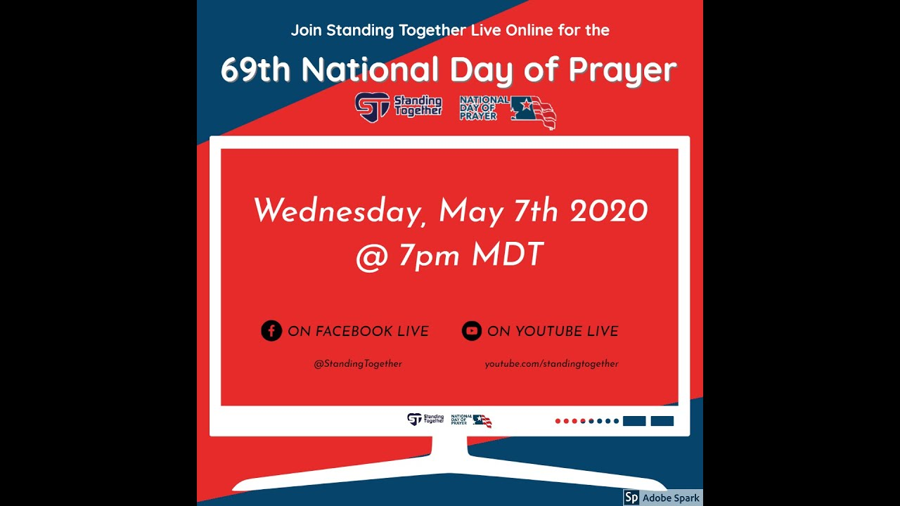 69th National Day of Prayer Live Online with Standing Together on May 7th, 2020