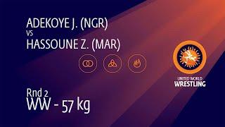 Round 2 WW - 57 kg: J. ADEKOYE (NGR) v. Z. HASSOUNE (MAR)