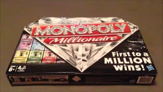 Monopoly Millionaire Game Board Unboxing
