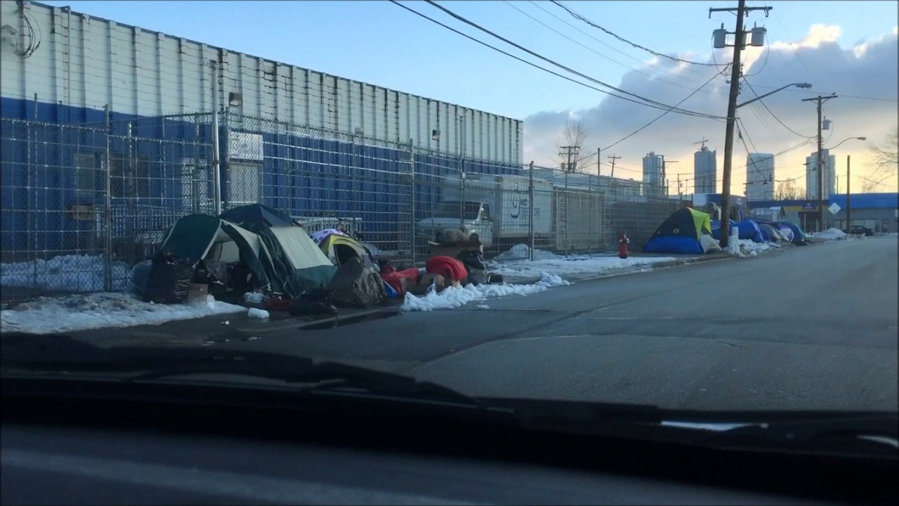 Weather Surrey: Near Freezing Weather Tent City Surrey, Canada