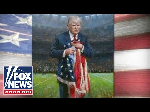 Trump painting tackles NFL protest controversy
