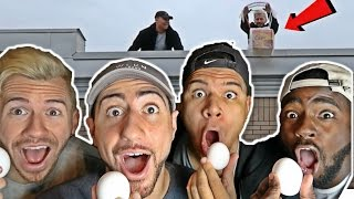 INSANE EGG DROP CHALLENGE!! *TRY NOT TO BREAK IT*