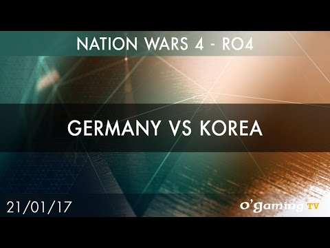 Germany vs Korea - Nation Wars 4 - Ro4 - Starcraft II - EN