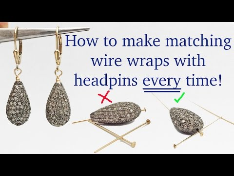 How to Wire Wrap Matching Earrings Every Time with Headpins - Jewelry Making Tutorials