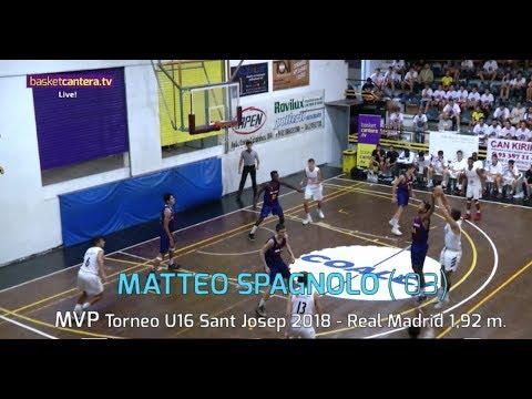 MATTEO SPAGNOLO (´03) Real Madrid. 1,92 M.  MVP Torneo Internacional Sant Josep (BasketCantera.TV)