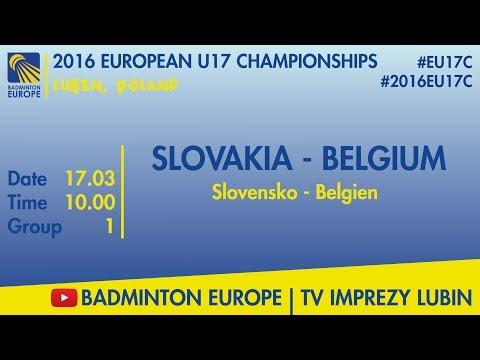 #2016EU17C Lubin - group 1 - SLOVAKIA - BELGIUM