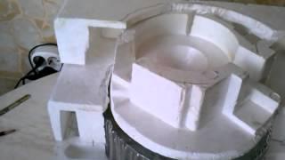 делаем сами комнатный водопад Часть3 Процесс изготовления