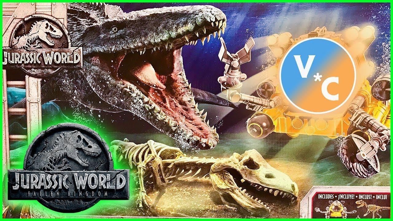 Jurassic World Fallen Kingdom Quest For Indominus Rex Pack Mosasaurus Sub NEW