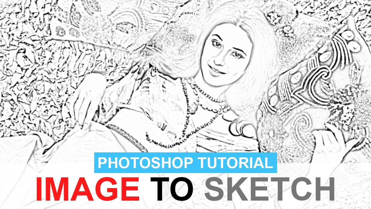 Easiest way to turn a photo into a pencil sketch photoshop tutorial online tutorials