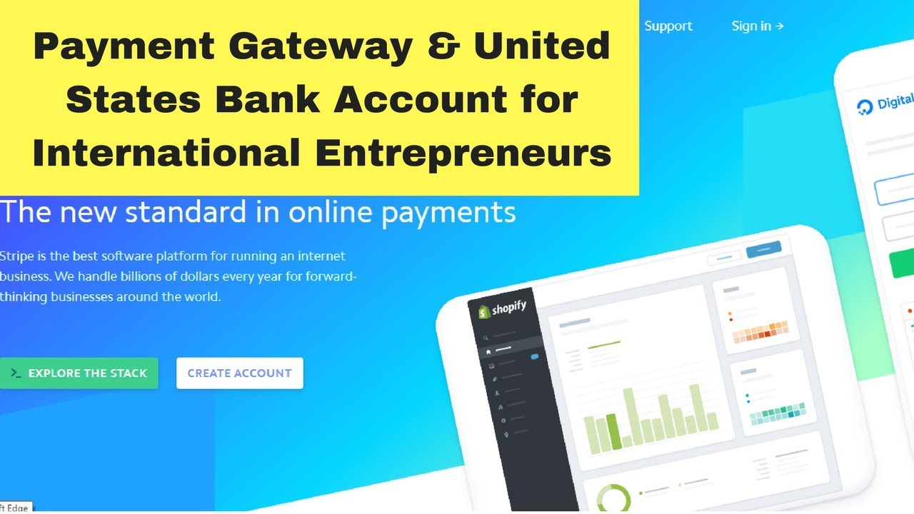 Payment Gateway and US Bank Account for International Shopify Sellers