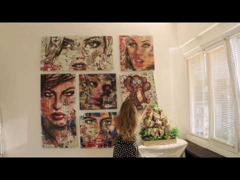 Innovative contemporary Pop Art installation with two faces / part 3
