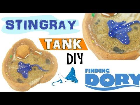 MINI STINGRAY TANK FINDING DORY Polymer Clay & Resin Tutorial