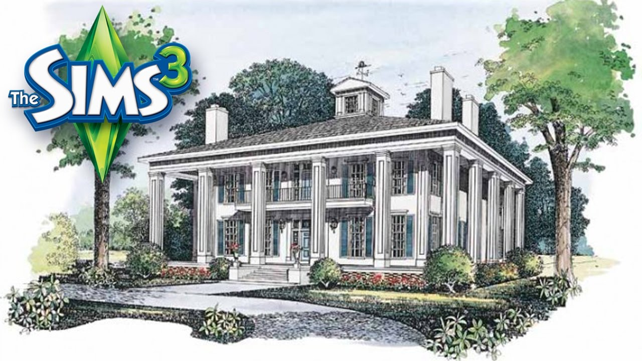 Sims 3 Southern Colonial House YouTube