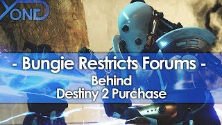 Bungie Restricts Forums Behind Destiny 2 Purchase