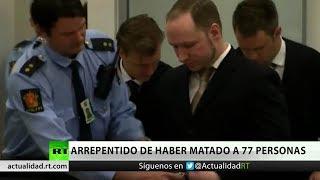 El terrorista noruego Anders Breivik se arrepiente por primera vez de haber asesinado a 77 personas