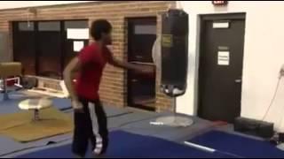 Slapping a punching bag
