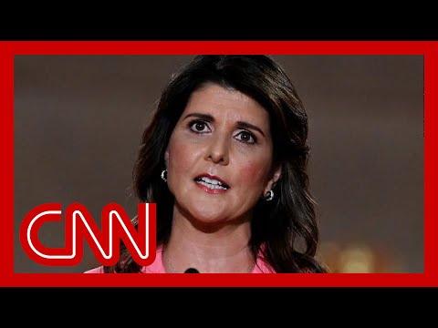 Haley flip flops on Trump, praising his 'strong speech'
