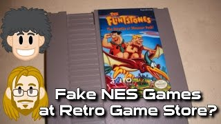 Fake NES Games at Retro Game Store - #CUPodcast