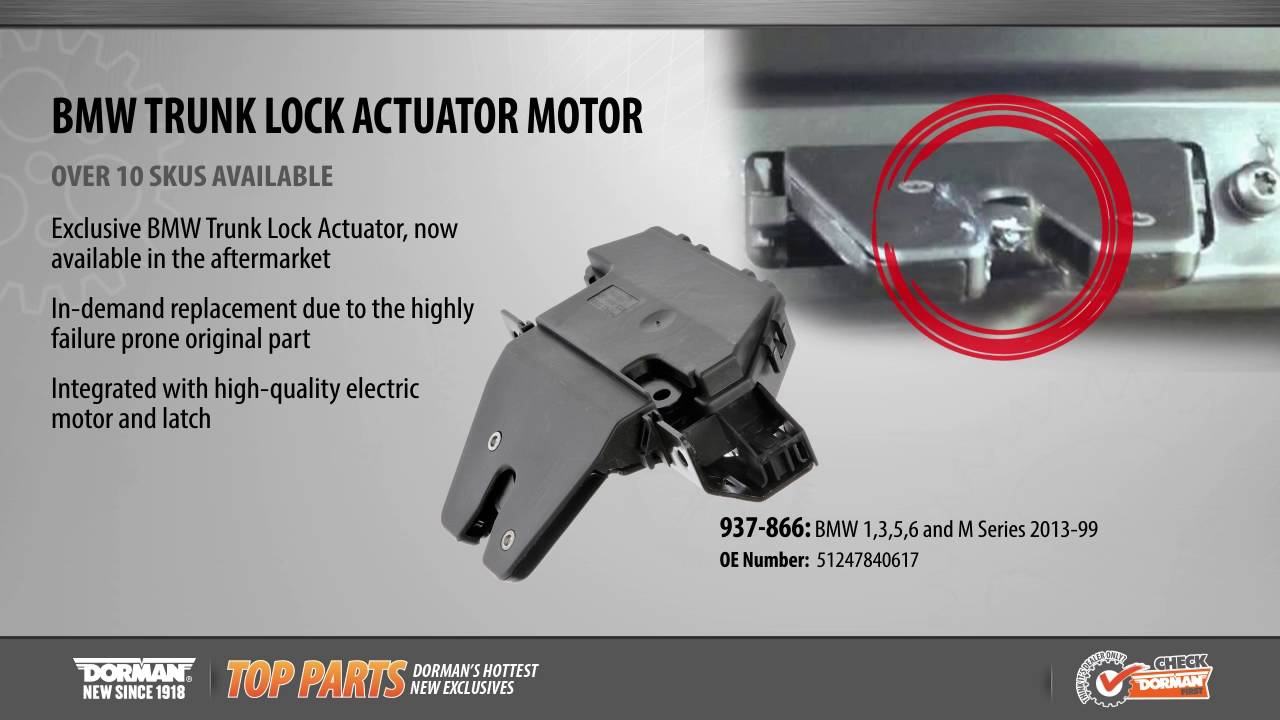 Trunk Lock Actuator Motor Youtube