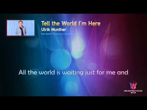 "Ulrik Munther - ""Tell The World I'm Here"" - (Karaoke version)"