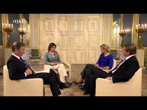 Interview Koning Willem Alexander en Maxima, het nieuwe Koningspaar
