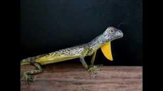 little lizard, a moving papercraft