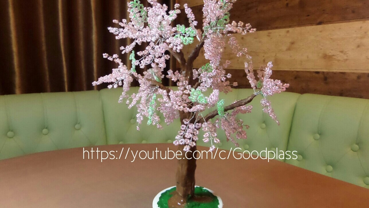 Ютуб бисероплетение деревьев цветов