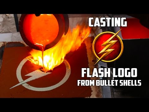 Making Gold The Flash Logo