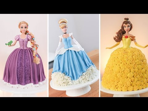 Disney Princesses - Doll Cakes - Tan Dulce