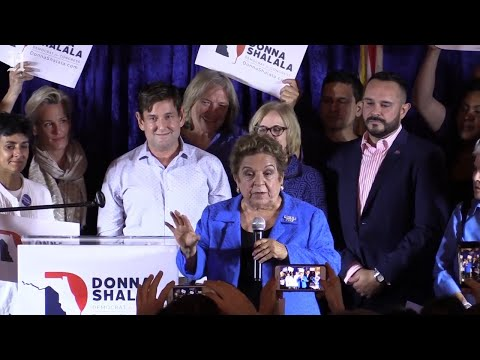 Donna Shalala celebrates her win over Salazar for seat in Congress