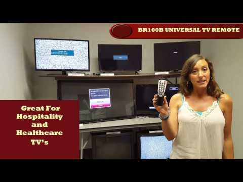 Universal remote control for motels, hotels, hospitals and