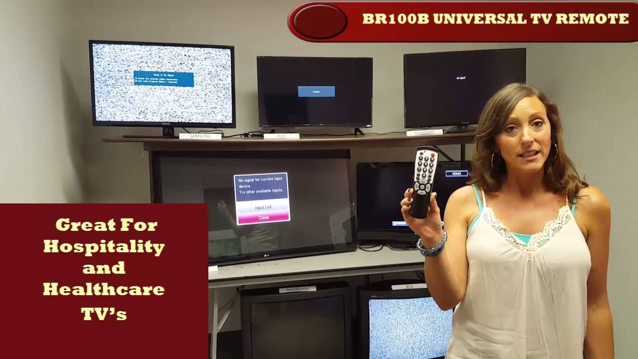 Universal remote control for motels, hotels, hospitals and healthcare