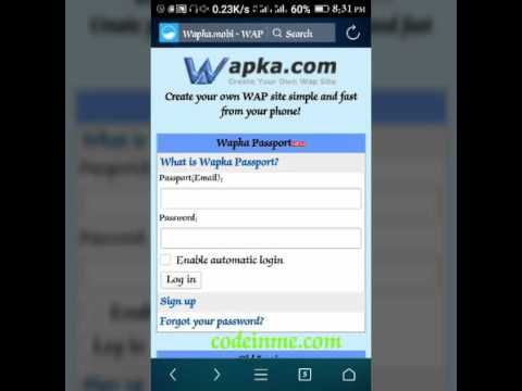What Types of Websites can I Create with Wapka.com?