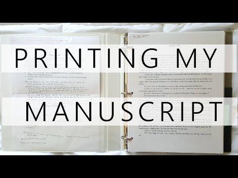 Printing My Manuscript