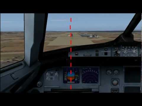 FSX TUTORIAL- How To Land on THE CENTER LINE HD