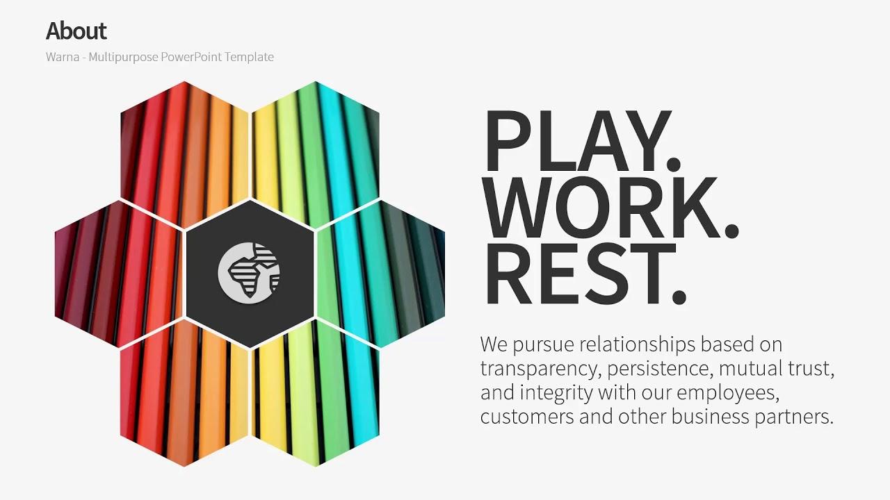 Company Profile Powerpoint Template B Warna Slides Youtube