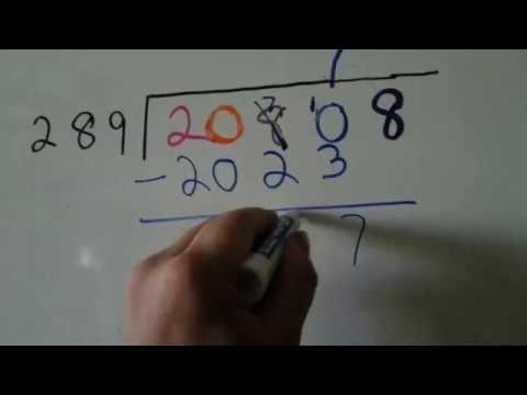 Long Division in Color 3 digit divisor (Division #15)