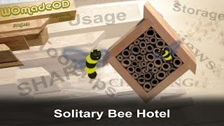 Solitary Bee Hotel - Insect Haven For Winter