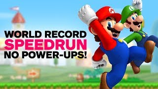 New Super Mario Bros. 'No Power-Ups' World Record Speedrun
