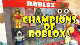 😛 BRAND NEW ROBLOXTOYS: CHAMPIONS OF ROBLOX PACK OF 6 TOY MINIFIGURES