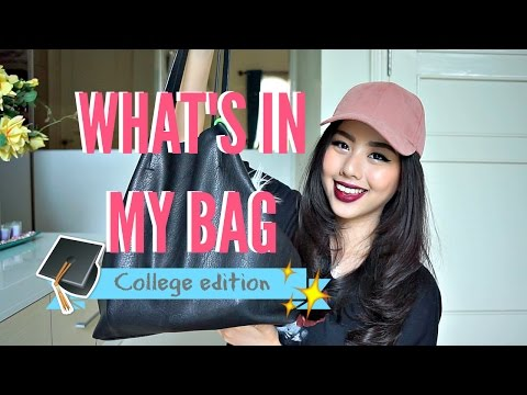 What's in My Bag! College Edition 👩🏼‍🎓🏆(Bahasa Indonesia) || Ludovica Jessica