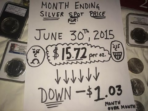 #18 End of June 2015 Silver purchases with all prices I paid