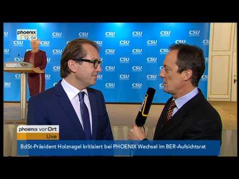 Interview mit Alexander Dobrindt - VOR ORT vom 09.01.2013